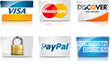 Galaxy Hardware accepts major credit cards and PayPal